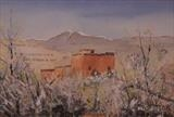 Atlas Mountains Morocco by James Roberts, Painting, Watercolour on Paper