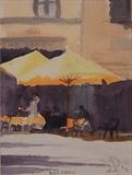 Bar Mary - Italy by James Roberts, Painting, Watercolour on Paper