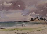Brittany Beach by James, Painting, Watercolour on Paper