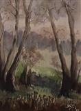 Ferns in Waterley Bottom by James Roberts, Painting, Watercolour on Paper