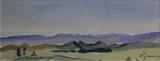 Ida Valley 3 NZ by James Roberts, Painting, Watercolour on Paper