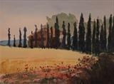La Fattoria by James Roberts, Painting, Watercolour on Paper