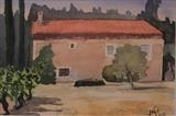 La Maison au Toit Rouge by James Roberts, Painting, Watercolour on Paper