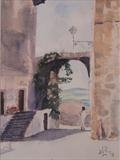Orvieto Italy by James Roberts, Painting, Watercolour on Paper