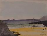 Treyanon Bay Cornwall by James Roberts, Painting, Watercolour on Paper